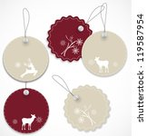 christmas tags | Shutterstock .eps vector #119587954
