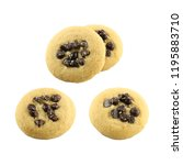 cookie and chocolate chip set... | Shutterstock . vector #1195883710