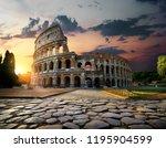 sunlight on ancient ruins of...   Shutterstock . vector #1195904599