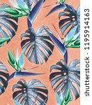 spring time contemporary bird... | Shutterstock . vector #1195914163