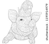 adult coloring page book a cute ... | Shutterstock .eps vector #1195914979