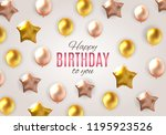 color glossy happy birthday... | Shutterstock .eps vector #1195923526