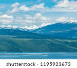 majestic mountain lake in... | Shutterstock . vector #1195923673