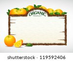 orange menu board | Shutterstock .eps vector #119592406