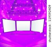 abstract hanging steel tower... | Shutterstock .eps vector #119592409