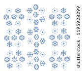snowflakes of blue shades on a... | Shutterstock .eps vector #1195928299