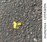 yellow butterfly with broken... | Shutterstock . vector #1195928596