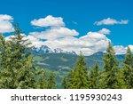 rocky mountains. mount burnham...   Shutterstock . vector #1195930243