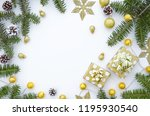 christmas composition. frame... | Shutterstock . vector #1195930540