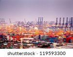 china shenzhen  yantian port | Shutterstock . vector #119593300
