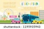 city transportation in baby ... | Shutterstock .eps vector #1195935943