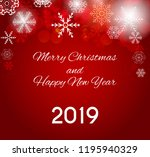 2019 happy new year and merry... | Shutterstock .eps vector #1195940329