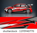 racing car decal wrap design.... | Shutterstock .eps vector #1195940770