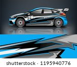 racing car decal wrap design.... | Shutterstock .eps vector #1195940776