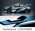racing car decal wrap design.... | Shutterstock .eps vector #1195940809