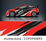 racing car decal wrap design.... | Shutterstock .eps vector #1195940893