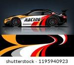 racing car decal wrap design.... | Shutterstock .eps vector #1195940923
