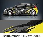 racing car decal wrap design.... | Shutterstock .eps vector #1195940980
