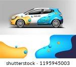 car wrap design  for branding ... | Shutterstock .eps vector #1195945003