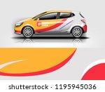 car wrap design  for branding ... | Shutterstock .eps vector #1195945036