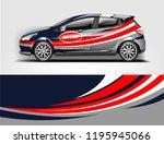car wrap design  for branding ... | Shutterstock .eps vector #1195945066