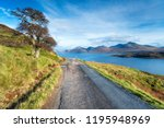 the coast road on the isle of... | Shutterstock . vector #1195948969