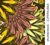 seamless floral background.... | Shutterstock .eps vector #1195961863