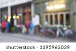 blurred background of sidewalk... | Shutterstock . vector #1195963039