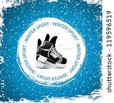 winter sport background.ice... | Shutterstock .eps vector #119596519