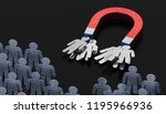 people or clients are attracted ...   Shutterstock . vector #1195966936