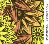 seamless floral background.... | Shutterstock .eps vector #1195967719
