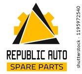 "car spare parts logo ""republic... | Shutterstock .eps vector #1195972540"