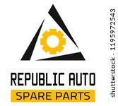 "car spare parts logo ""republic... | Shutterstock .eps vector #1195972543"