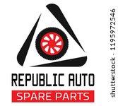 "car spare parts logo ""republic... | Shutterstock .eps vector #1195972546"