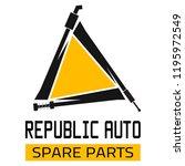 "car spare parts logo ""republic... | Shutterstock .eps vector #1195972549"