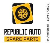 "car spare parts logo ""republic... | Shutterstock .eps vector #1195972579"