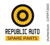 "car spare parts logo ""republic... | Shutterstock .eps vector #1195972603"