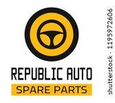 "car spare parts logo ""republic... | Shutterstock .eps vector #1195972606"