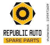 "car spare parts logo ""republic... | Shutterstock .eps vector #1195972609"