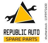 "car spare parts logo ""republic... | Shutterstock .eps vector #1195972630"