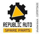 "car spare parts logo ""republic... | Shutterstock .eps vector #1195972633"