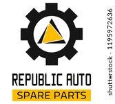 "car spare parts logo ""republic... | Shutterstock .eps vector #1195972636"