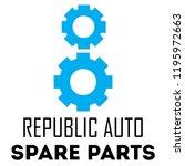 "car spare parts logo ""republic... | Shutterstock .eps vector #1195972663"