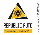 "car spare parts logo ""republic... | Shutterstock .eps vector #1195972666"