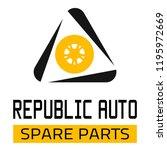 "car spare parts logo ""republic... | Shutterstock .eps vector #1195972669"