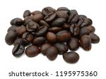roasted coffee beans isolated... | Shutterstock . vector #1195975360