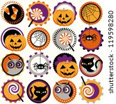 halloween circles pattern   Shutterstock .eps vector #119598280