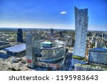 modern warsaw   colorful hdr... | Shutterstock . vector #1195983643