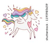 unicorn fantasy cartoon | Shutterstock .eps vector #1195985659