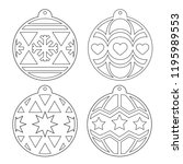 christmas balls. a set of...   Shutterstock .eps vector #1195989553